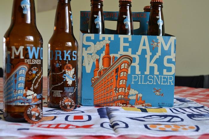 STEAM WORKSの瓶ビールの写真