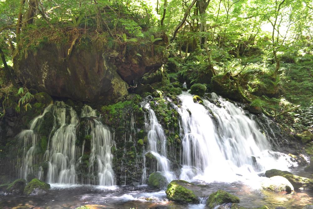秋田県にかほ市象潟の観光スポット・元滝伏流水(正面)の写真