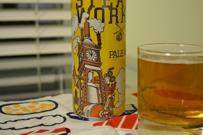 STEAM WORKSの缶ビールの写真