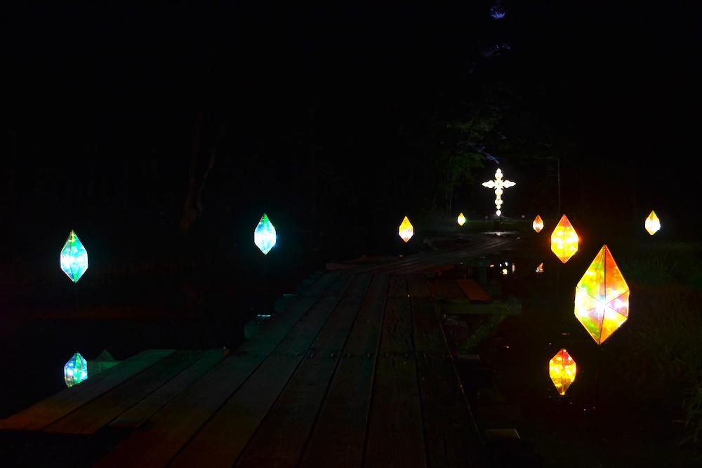 童話村の森ライトアップ2018(泉)の写真