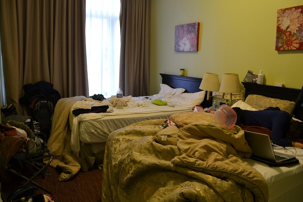 ホステルの個室の写真