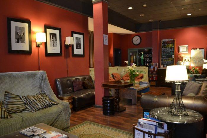 ホステルの談話室の写真