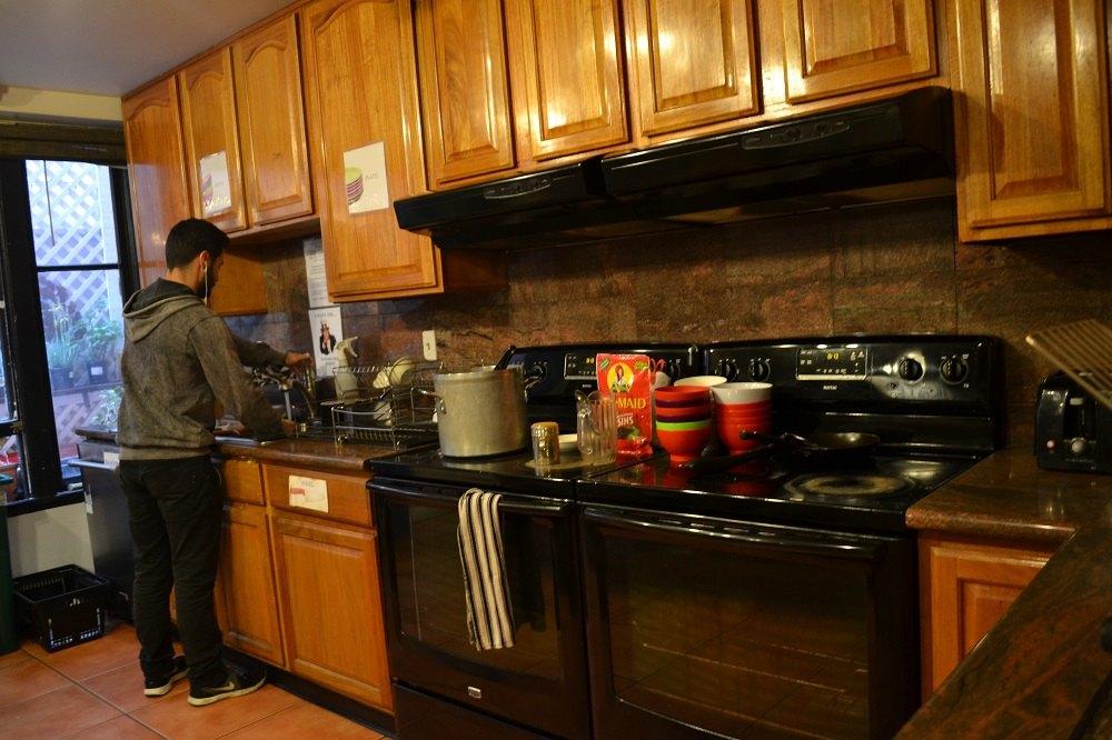 ホステルのキッチンの写真
