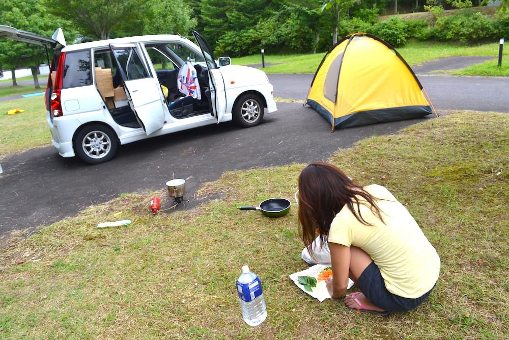 岩手県二戸折爪岳オートキャンプ場で自炊中〜の写真