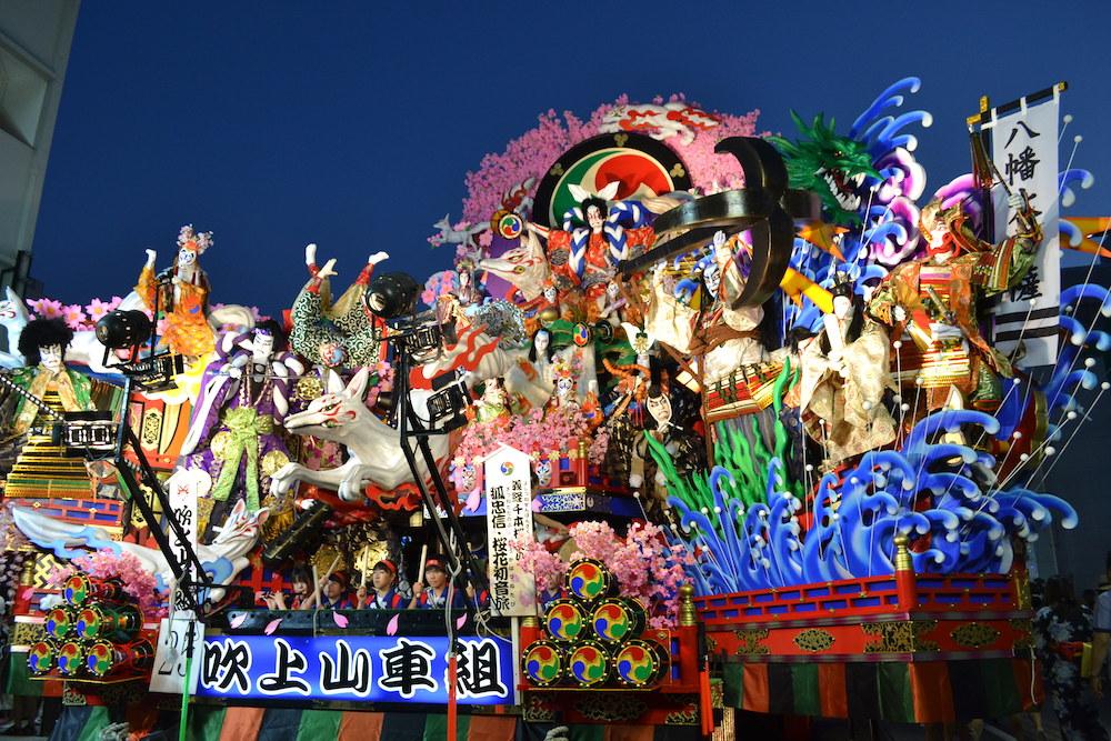 青森八戸三社大祭の山車(狐忠信)の写真