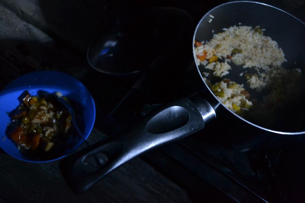 キャンプご飯の写真