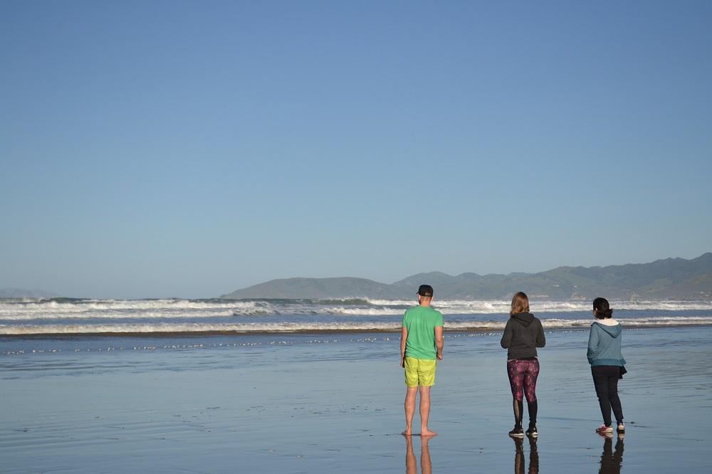 ピスモビーチで黄昏てる写真