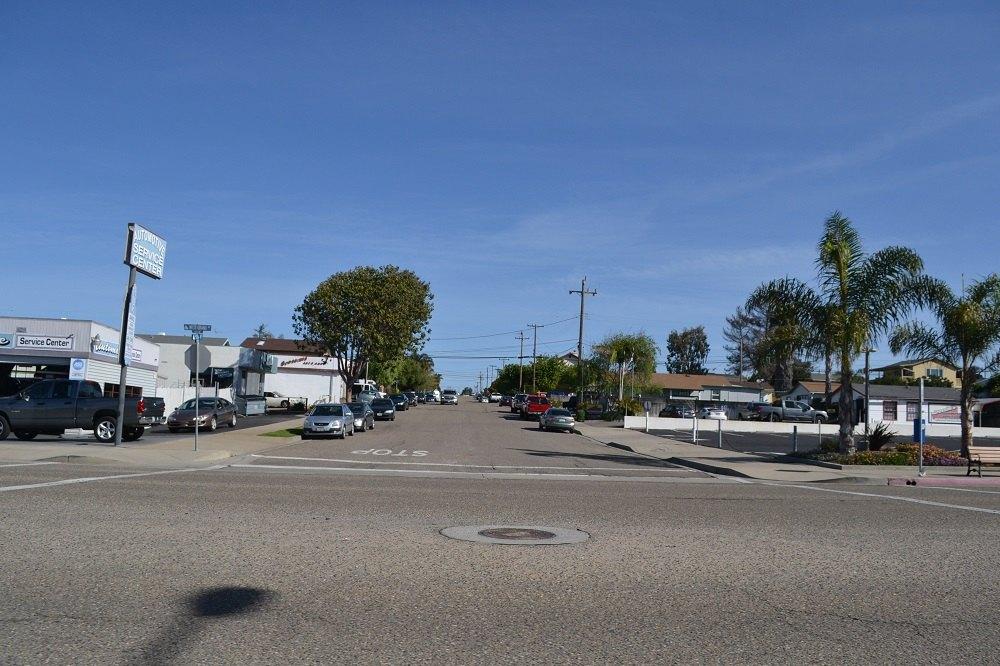 ピズモビーチの町並みの写真