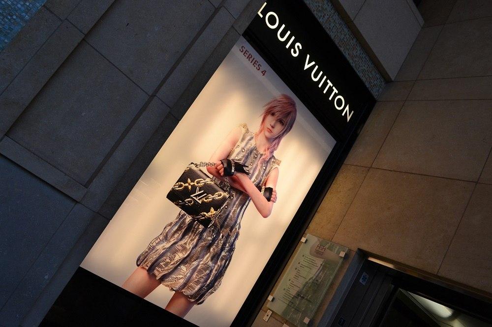 ルイヴィトンの看板の写真