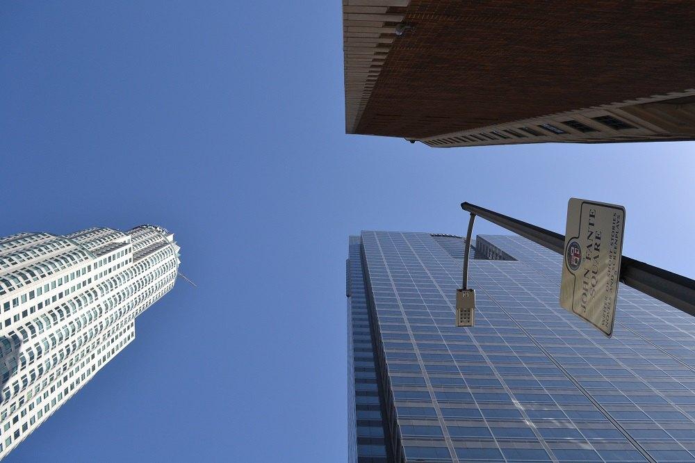 ロスダウンタウンのビルの写真