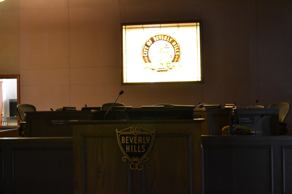 ビバリーヒルズ市庁舎の中の写真