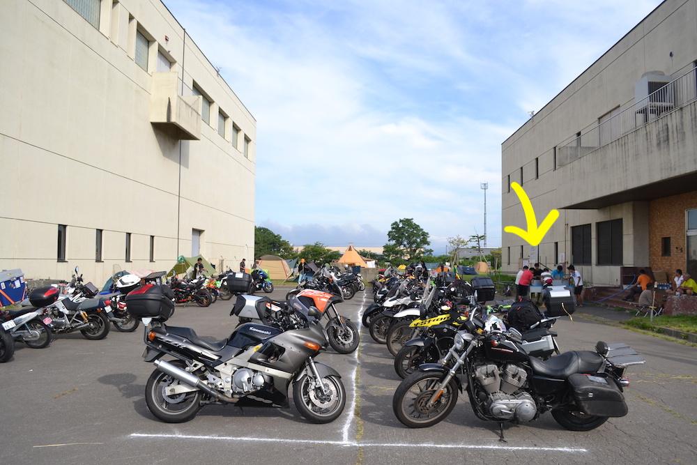 青森県ねぶた祭無料サマーキャンプサイト(バイク・水場)の写真