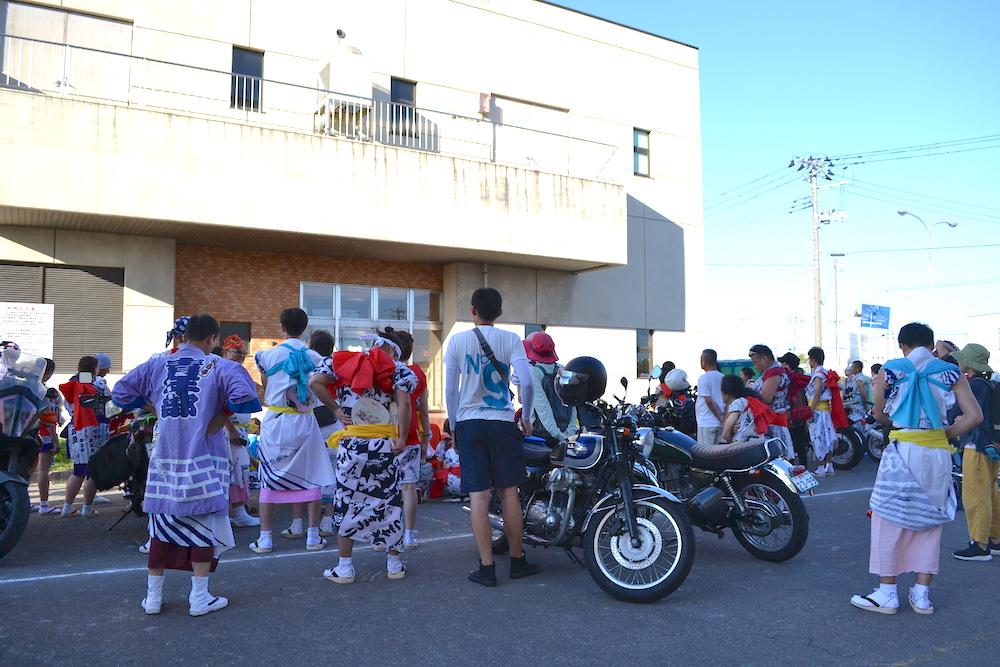 青森県ねぶた祭無料サマーキャンプサイト(ハネト準備)の写真