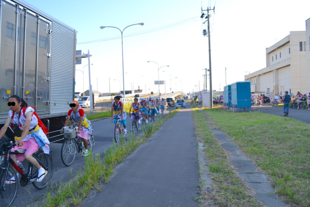 青森県ねぶた祭無料サマーキャンプサイト(ハネト自転車隊)の写真