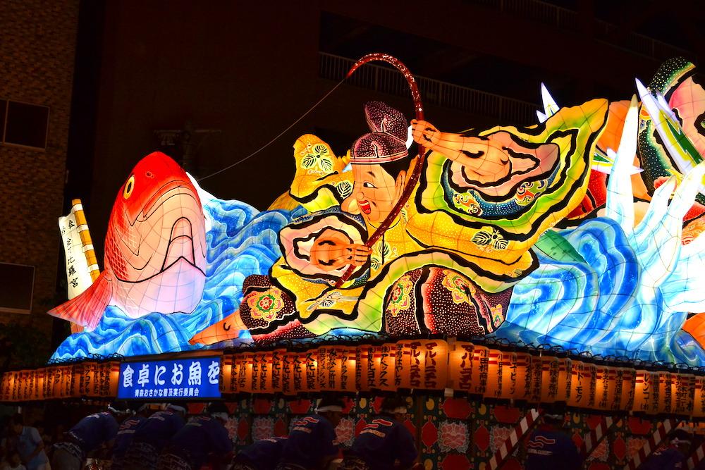 青森県ねぶた祭(大型ねぶた・恵比寿さま?)の写真