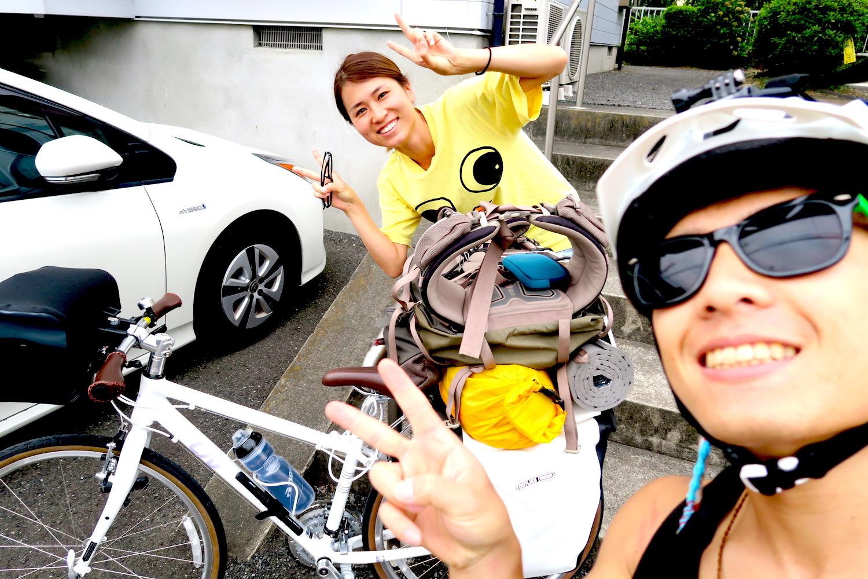 日本一周前に親友に挨拶した時の写真