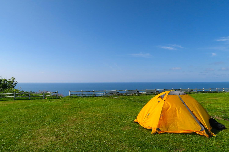 北海道初山別村みさき台公園キャンプ場 (海の眺め)の写真
