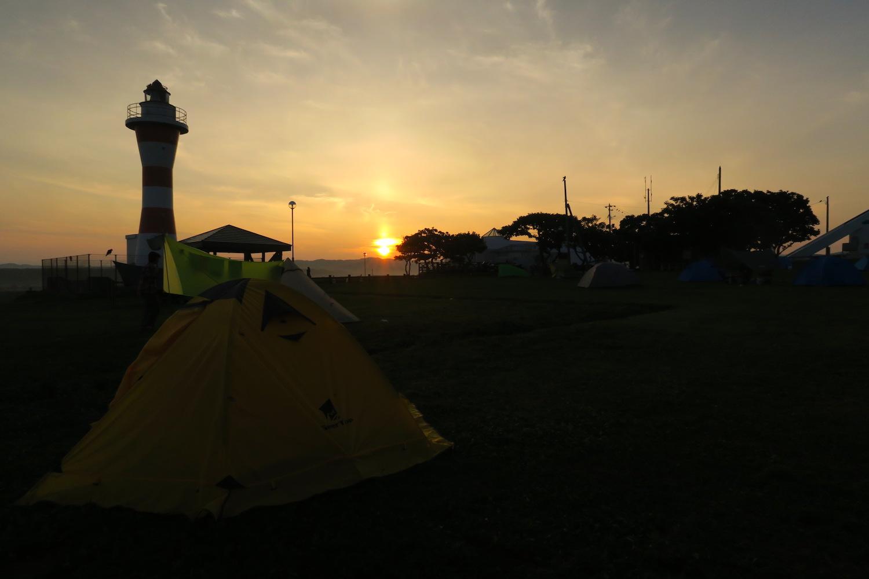 北海道初山別村みさき台公園キャンプ場 (日の出)の写真