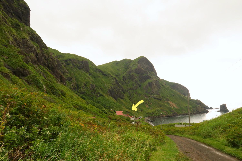 北海道礼文島ユースホステル桃岩荘(ちょっと近づいた)の写真