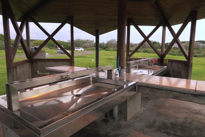 北海道稚内宗谷ふれあい公園キャンプ場(炊事場)の写真