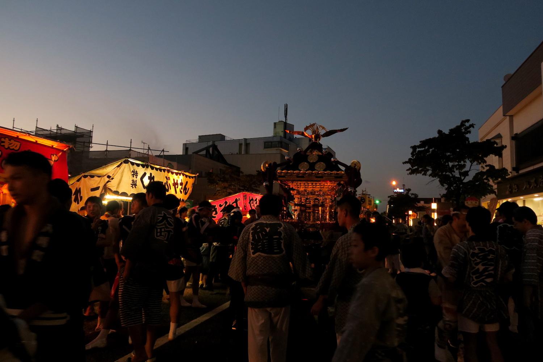 福島県須賀川市秋季例大祭(屋台とお神輿)の写真