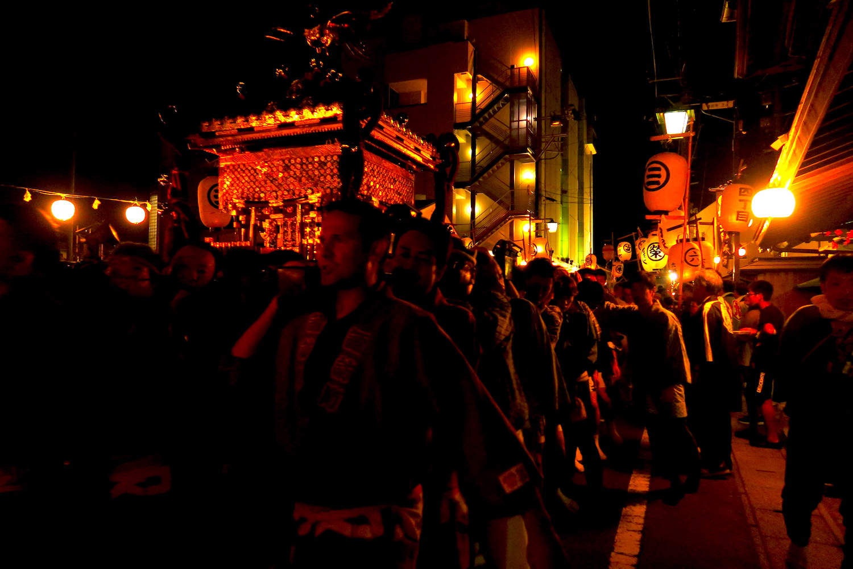 福島県須賀川市秋季例大祭(町並みとお神輿)の写真