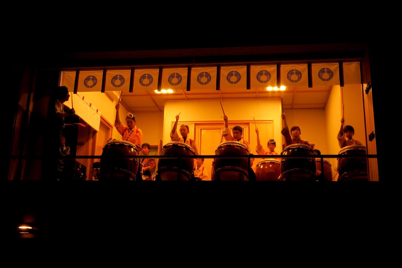 福島県須賀川市神炊館神社秋季例大祭(太鼓演奏)の写真