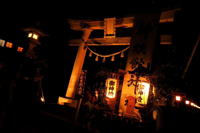 福島県須賀川市神炊館神社鳥居の写真