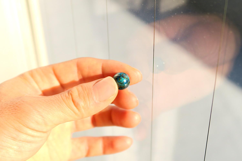 マクラメ用天然石クリソコラの写真