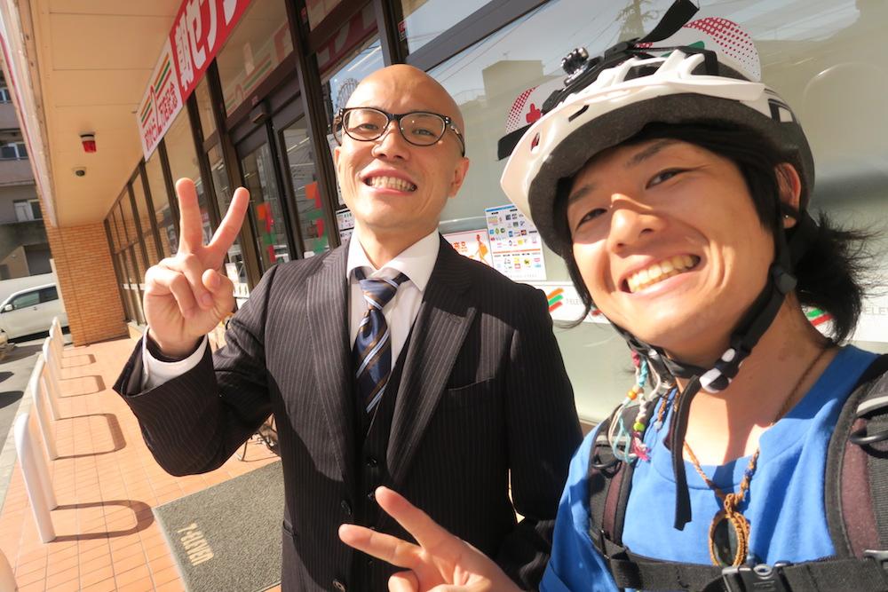 自転車日本一周中に出会った人の写真