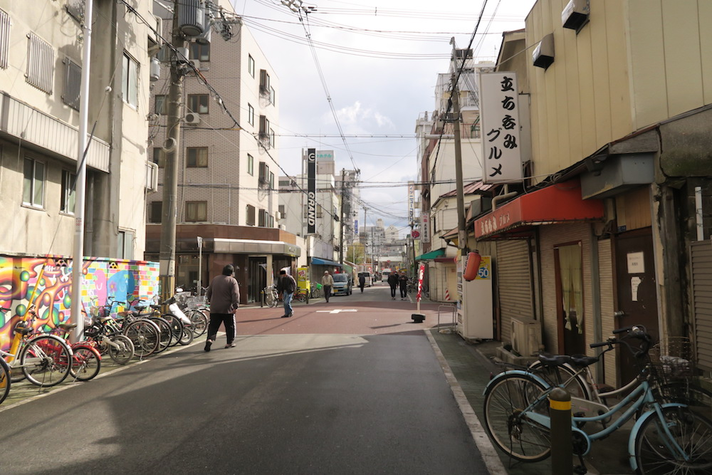 大阪西成区あいりん地区の写真