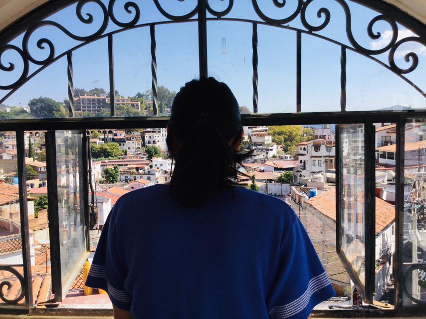 メキシコ・タスコ(窓からの景色)の写真