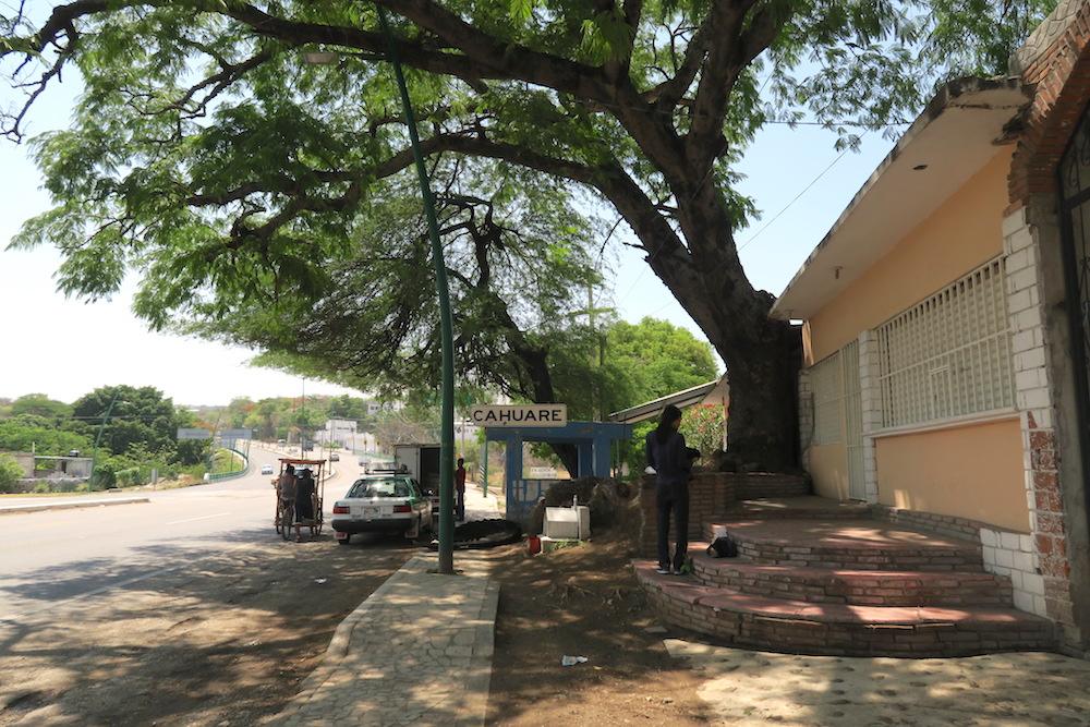 メキシコ・スミデロ渓谷バス降車場所の写真