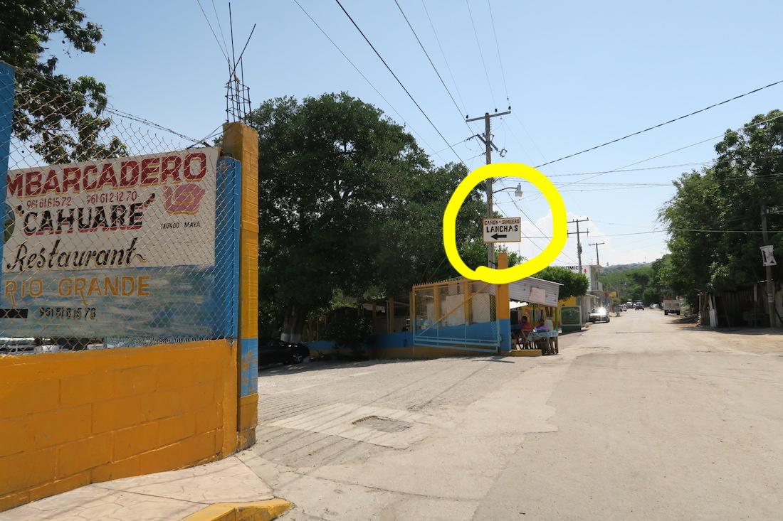 メキシコ・スミデロ渓谷ボートツアー入り口の写真