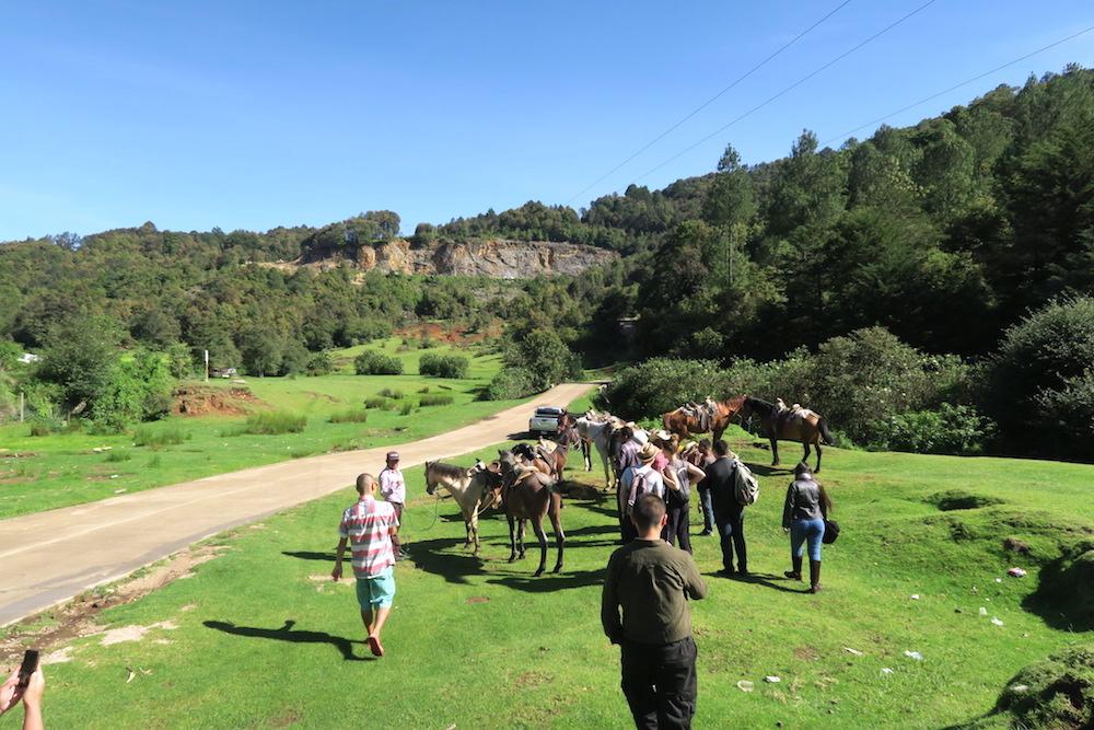 サンクリストバル・チャムラ日帰り乗馬ツアー(馬乗り場)の写真