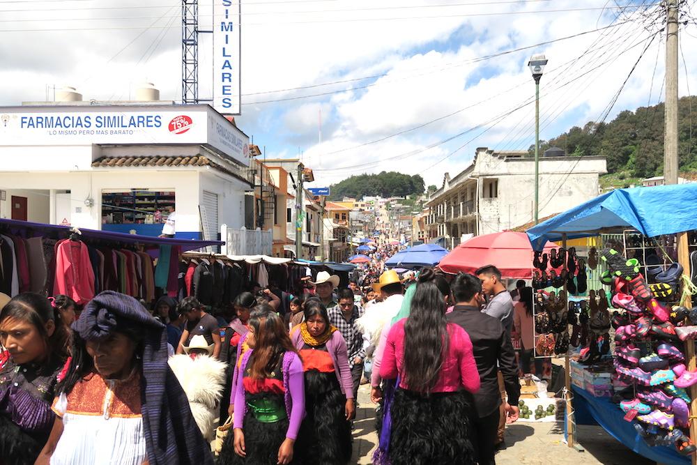 メキシコ|サンフアンチャムラのお祭り(町並み)の写真