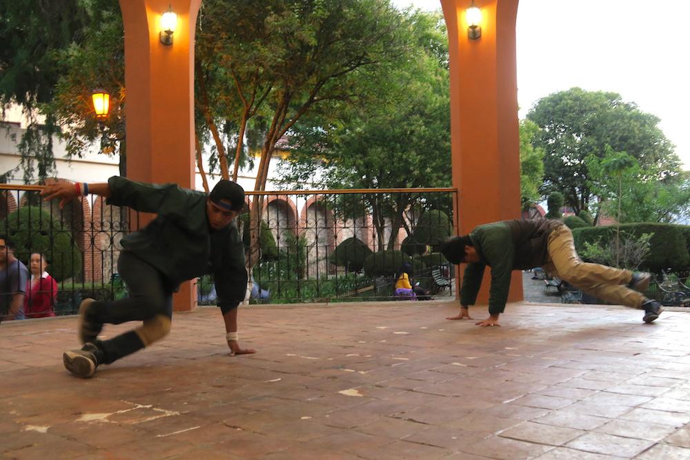 メキシコのサンクリストバル・デ・ラス・カサスのブレイクダンス練習場所の写真