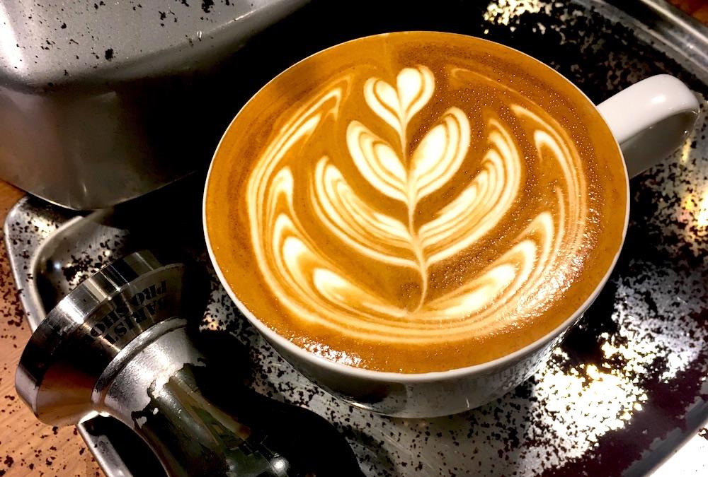 Eちゃんのコーヒーラテアートの写真