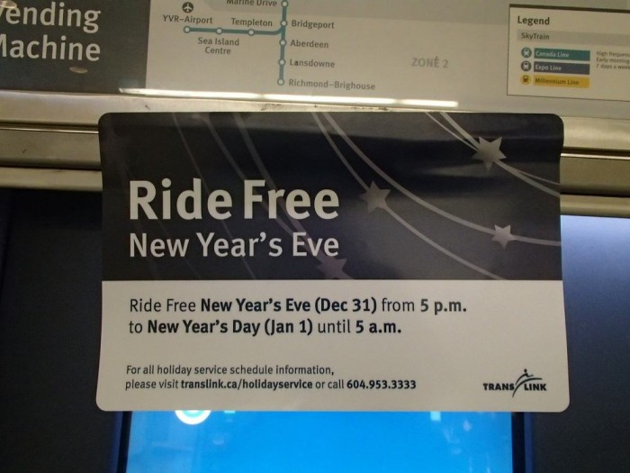 free rideと書かれた張り紙の写真