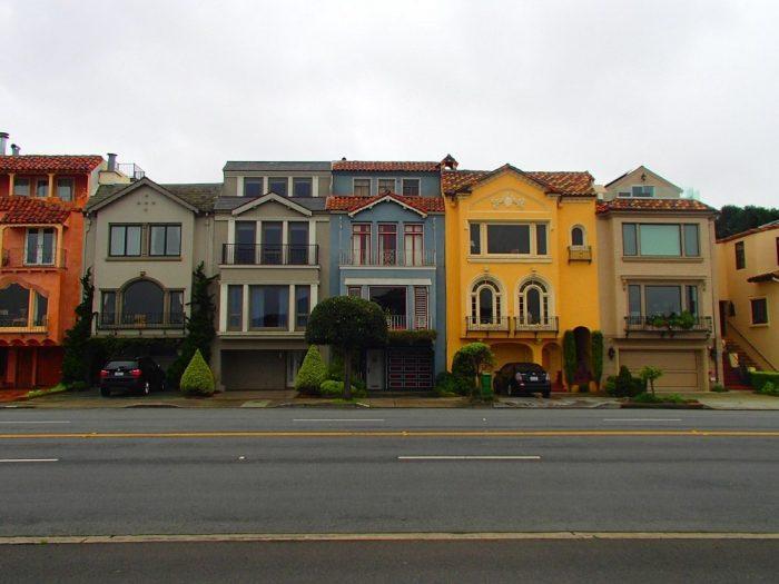 サンフランシスコの派手な家の写真