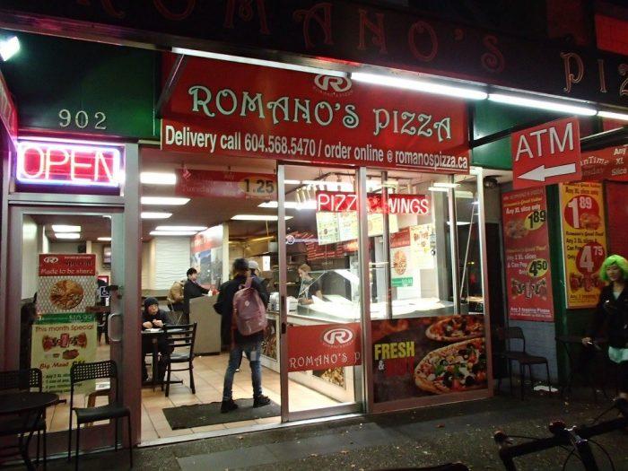 バンクーバーのピザ屋の写真