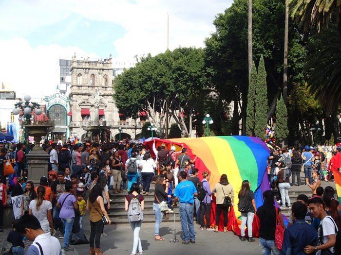 メキシコ・プエブラのデモ活動(ソカロ)の写真