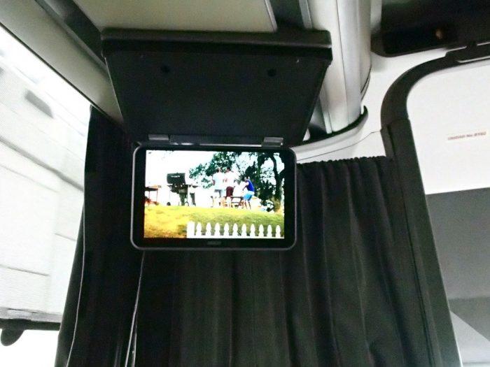 プエブラからオアハカADOバスのテレビの写真