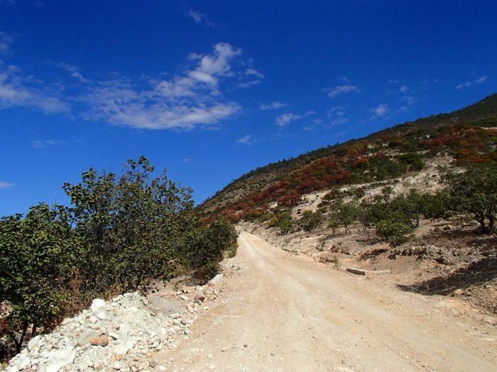 Hierve el Aguaまでの相乗りトラックからの眺めの写真