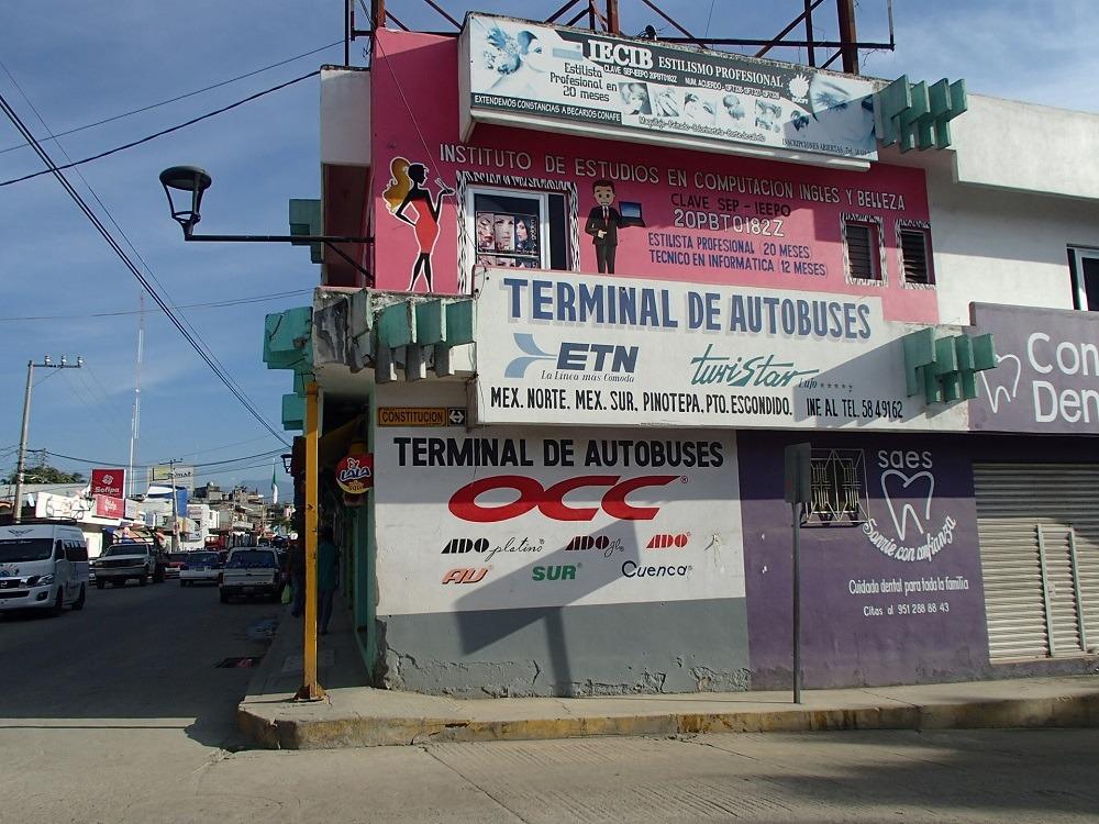 メキシコ・ポチュトラの長距離バスターミナルの写真