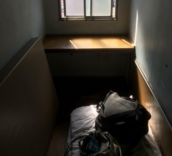 大阪あいりん地区の簡易宿所(安ホテル)の写真