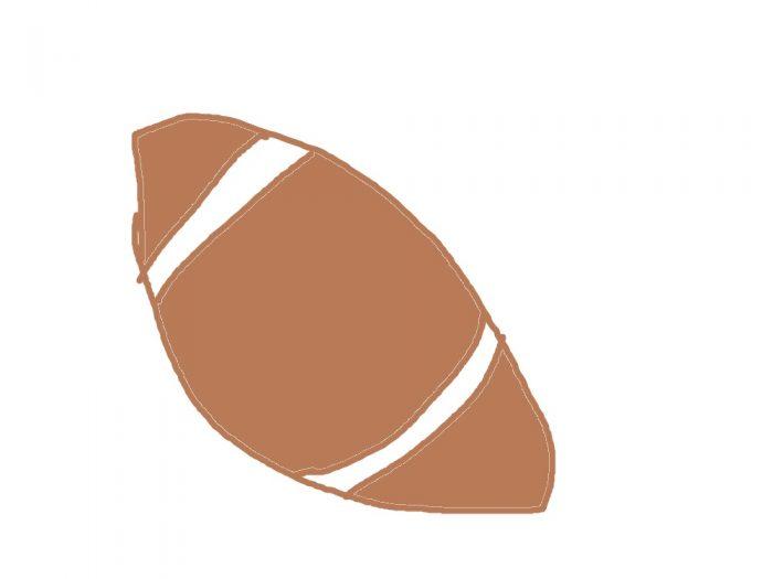 rugbyボールのイラスト
